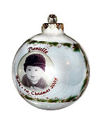 Photo Ornament - Christmas Pine and Berries