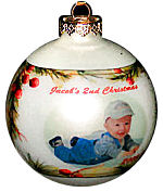 Photo Ornament -  Cranberry Pine
