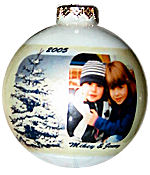 Photo Ornament - Snow Tree