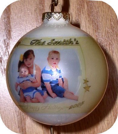 Photo Ornament - Star Border
