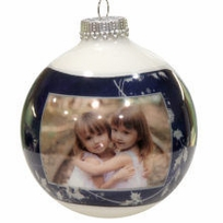 Photo Ornaments Blue Elegant