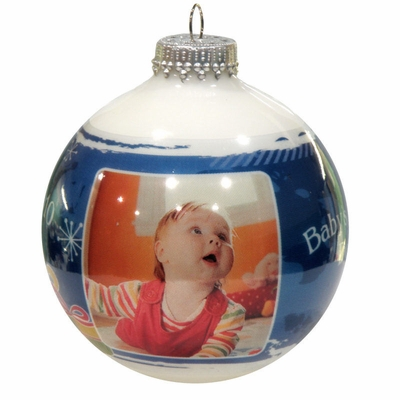 Photo Ornaments - Blue Icicle Designer Series