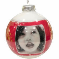 Photo  Ornaments - Fun Red