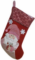 Pink Collection Designer Santa Christmas Stockings