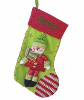 Raspberry Lime Snowman Christmas Stocking Collection