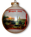 Red Ribbon Photo Christmas Ball Ornament