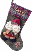 Rustic Christmas Stocking - Country Santa