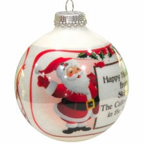 Santa Design Photo Ornament
