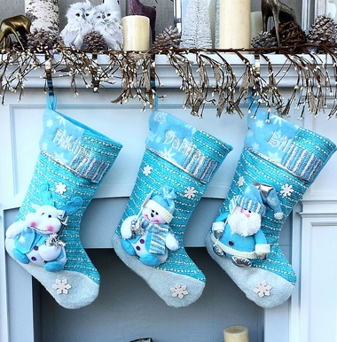Winter Wonderland Santa Christmas Stocking