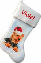Yorkie Dog Christmas Stocking Personalized