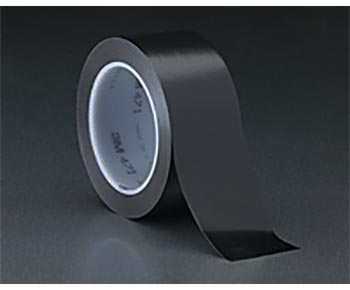 "3M� 021200-03115 Black 471 Vinyl 5.2 Mil Tape - 1"" x 36 Yard Roll"
