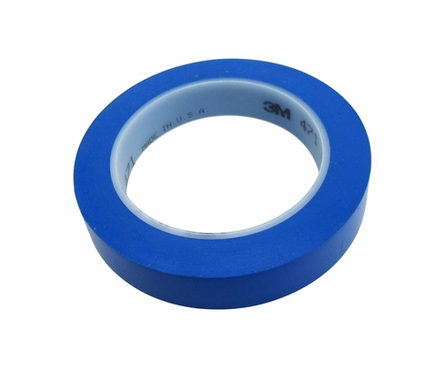 "3M� 021200-03120 Blue 471 Vinyl 5.2 Mil Tape - 3/4"" x 36 Yard Roll"
