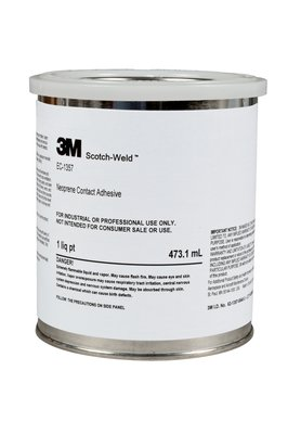 3M™ 021200-19893 Scotch-Weld™ EC-1357 Gray-Green Neoprene High Performance Contact Adhesive - Quart Can