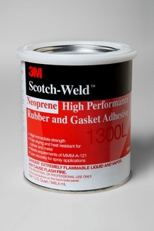 3M™ 021200-19927 Scotch-Weld™ 1300L Yellow Neoprene High Performance Rubber & Gasket Adhesive - Quart Can