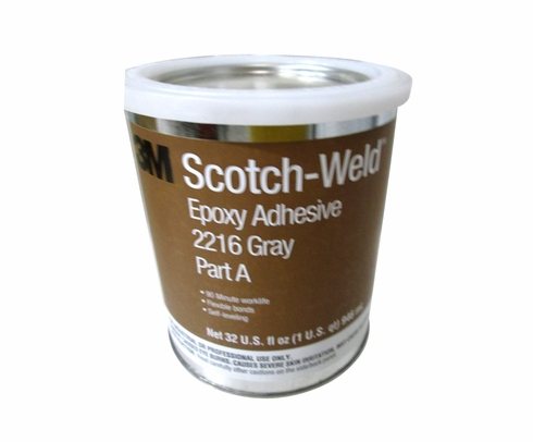 3M 021200-20356 Gray Scotch-Weld 2216 B/A Epoxy Adhesive - A+B Quart Kit