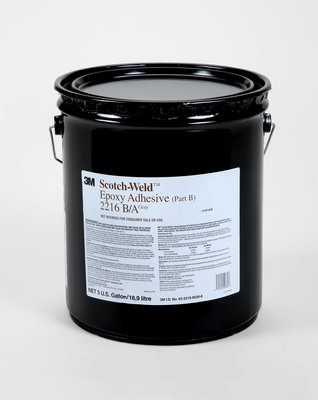 3M 021200-20360 Gray Scotch-Weld 2216 Part B Epoxy Adhesive - 5 Gallon Pail