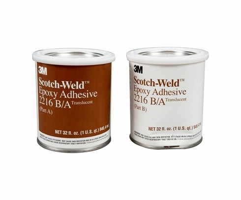 3M 021200-20854 Scotch-Weld Clear 2216 B/A Epoxy Adhesive - A+B Quart Kit