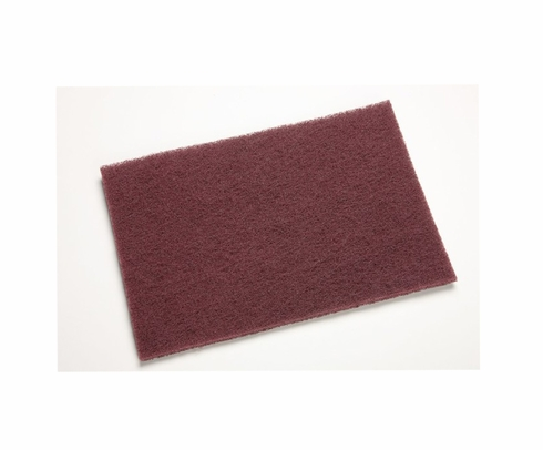 "3M� 048011-04029 Scotch-Brite� 7447 Maroon Very Fine 6"" x 9"" General Purpose Pad - 20 Pads/Box"