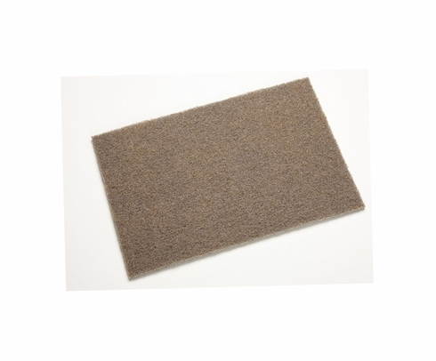 "3M™ 048011-65055 Scotch-Brite™ 7440 Tan Coarse Heavy-Duty 6"" x 9"" Hand Pad - 20 Pads/Box"