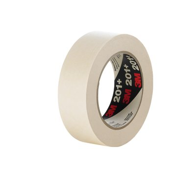 3M� 051115-64740 201+ Tan 4.4 Mil General Use Masking Tape - 24 mm x 55 m Roll