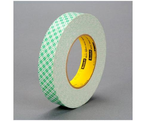 "3M� 051115-32055 Scotch� 401M Off-White 9 Mil Double Coated Paper Tape - 1"" x 36 Yard Roll"