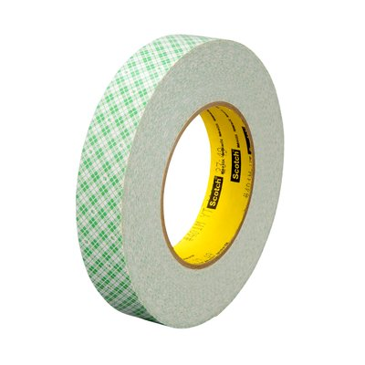 "3M� 051115-32056 Scotch� 401M Off White 9 Mil Double Coated Paper Tape - 2"" x 36 Yard Roll"