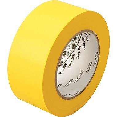"3M� 051131-06982 Yellow 3903 Vinyl 6.5 Mil Duct Tape - 2"" x 50 Yard Roll"