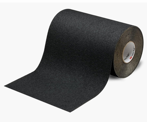 "3M™ 048011-19297 Safety-Walk™ 310 Black Slip-Resistant Medium Resilient Tapes & Treads - 6"" x 60' Roll"