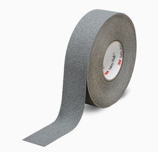 "3M™ 048011-19323 Safety-Walk™ 370 Gray Slip-Resistant Medium Resilient Tapes & Treads - 2"" x 60' Roll"