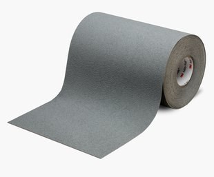 "3M™ 048011-19325 Safety-Walk™ 370 Gray Slip-Resistant Medium Resilient Tapes & Treads - 12"" x 60' Roll"