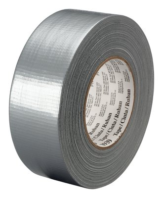"3M� 051131-06975 Silver 3939 Heavy-Duty 9 Mil Duct Tape - 1.88"" x 60 Yard Roll"