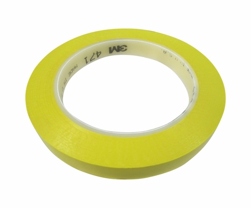 "3M� 021200-07180 Yellow 471 Vinyl 5.2 Mil Tape - 1/2"" x 36 Yard Roll"