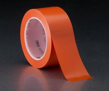 "3M� 021200-03140 Orange 471 Vinyl 5.2 Mil Tape - 1"" x 36 Yard Roll"