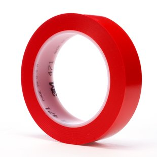 "3M� 021200-03107 Red 471 Vinyl 5.2 Mil Tape - 1"" x 36 Yard Roll"