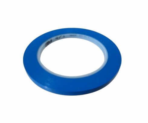 "3M� 021200-61192 Blue 471 Vinyl 5.2 Mil Tape - 1/4"" x 36 Yard Roll"