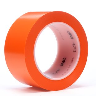"3M� 021200-04312 Orange 471 Vinyl 5.2 Mil Tape - 2"" x 36 Yard Roll"