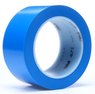 "3M� 021200-03122 Blue 471 Vinyl 5.2 Mil Tape - 3"" x 36 Yard Roll"