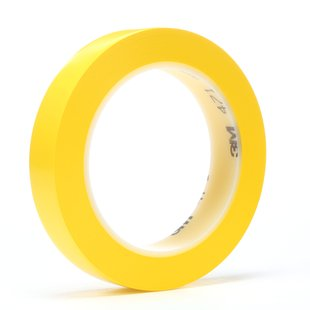 "3M� 021200-03127 Yellow 471 Vinyl 5.2 Mil Tape - 3/4"" x 36 Yard Roll"