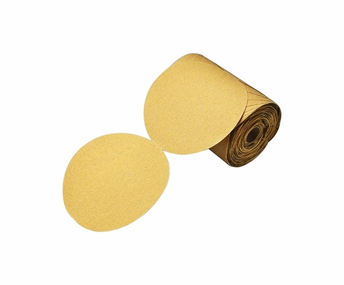 "3M 051144-86473 Stikit Gold 236U ""C"" Weight 6"" Sandpaper Discs - 220 Grade"