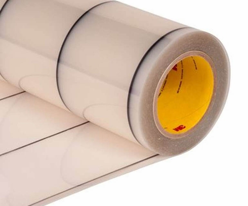 "3M� 70-0000-8412-2 Transparent 8663DL Dual Liner 18 Mil Polyurethane Protective Tape - 24"" x 36 Yard Roll"