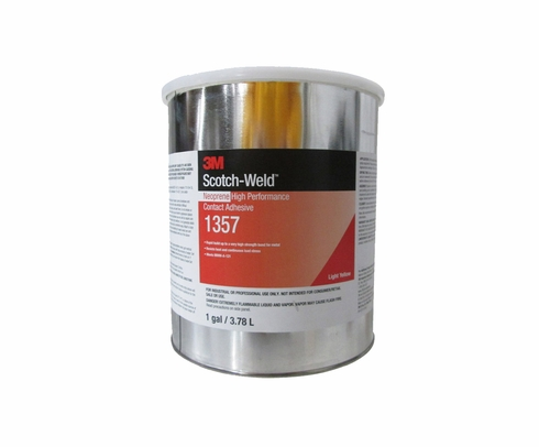 3M™ 021200-22586 Scotch-Weld™ 1357 Light Yellow Neoprene High Performance Contact Adhesive - Gallon Can