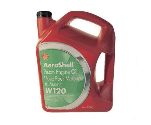 AeroShell Oil W120 SAE Grade 60 Ashless Dispersant Aircraft Oil - 5 Liter Jug