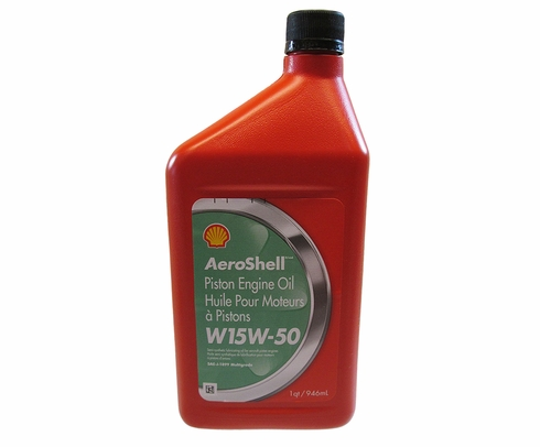 AeroShell Oil W 15W-50 Multi-grade Aircraft Oil - Quart Bottle