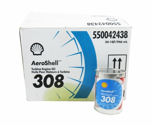AeroShell Turbine Oil 308 Synthetic Turbine Engine Oil - Quart Can