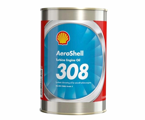 AeroShell Turbine Oil 308 Synthetic Turbine Engine Oil - 24 Quart/Case