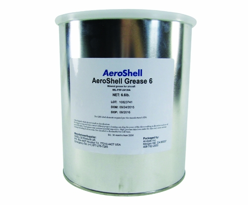 AeroShell Grease 6 General Purpose Airframe Grease - 6.6 lb Can