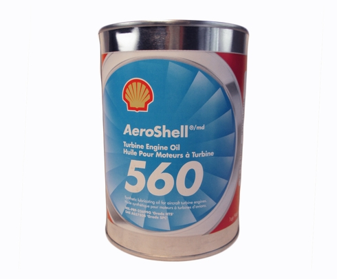 AeroShell Turbine Oil 560 Synthetic Turbine Engine Oil - Quart Can