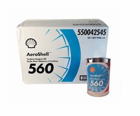 AeroShell Turbine Oil 560 Synthetic Turbine Engine Oil - 24 Quart/Case