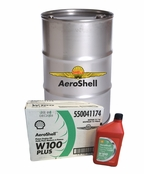 AeroShell Oil W100 Plus SAE Grade 50 Ashless Dispersant Aircraft Oil