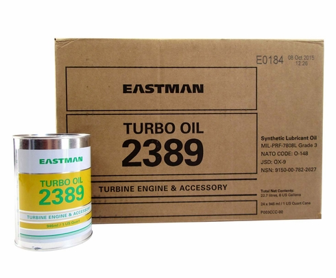 Eastman Turbo Oil 2389 Clear MIL-PRF-7808 Grade 3 Spec Aircraft Turbine Engine Lubricating Oil - Quart Can